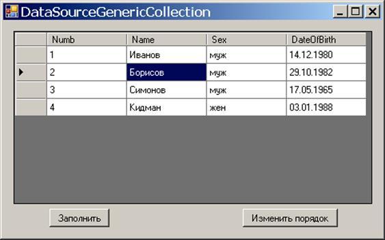 Определение источника данных для таблицы DataGridView — FINDOUT SU